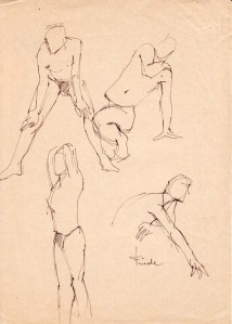 Male Figure drawing, 1978
